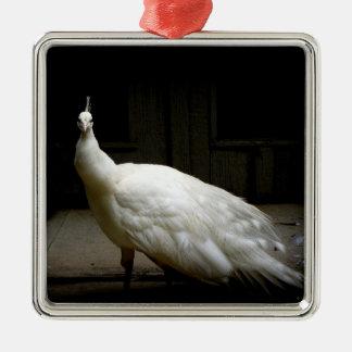 Elegantt foto för fågel för natur för julgransprydnad metall