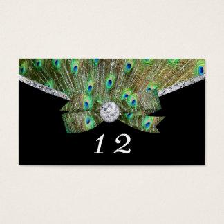 Elegantt gifta sig för påfågel & för diamanter visitkort
