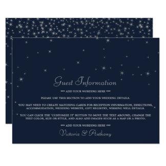 Elegantt gifta sig för stjärnor för marin & för 11,4 x 15,9 cm inbjudningskort