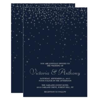 Elegantt gifta sig för stjärnor för marin & för 12,7 x 17,8 cm inbjudningskort