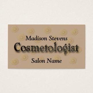Elegantt guld- blommamönster för Cosmetologist Visitkort
