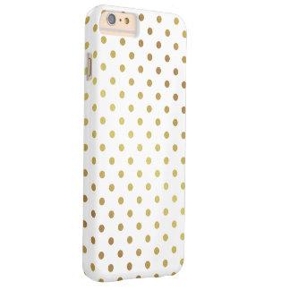 Elegantt guld- glitterpolka dotsmönster barely there iPhone 6 plus skal