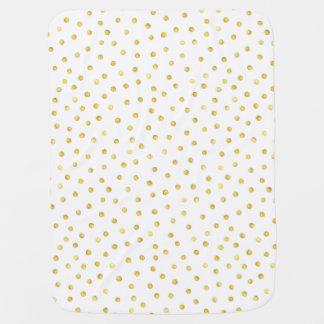 Elegantt guld omkullkastar konfettiar pricker