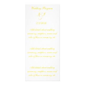 Elegantt guld skrivar bröllopsprogram reklamkort