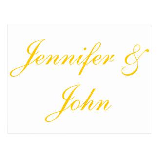 Elegantt guld skrivar brölloptackkort