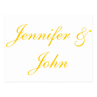 Elegantt guld skrivar brölloptackkort vykort