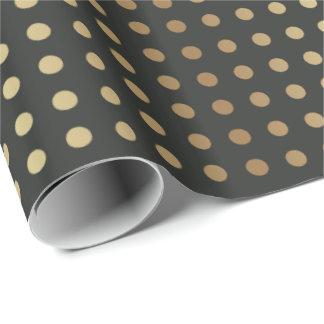 Elegantt guld & skuggar av grå färg presentpapper