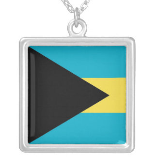 Elegantt halsband med flagga av Bahamas