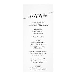 Elegantt kort för meny för vit- &