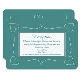 Elegantt kort för mottagande för 8,9 x 12,7 cm inbjudningskort