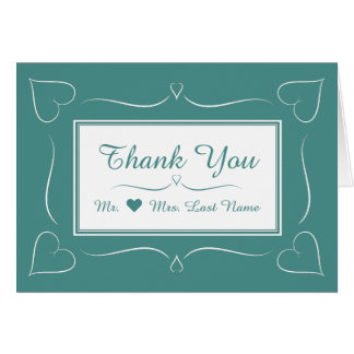 Elegantt kort för tack för krickabröllophjärta