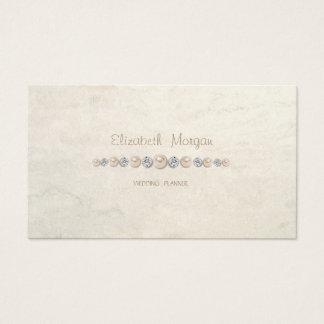 Elegantt lyxigt enkelt, diamanter, pärlor visitkort