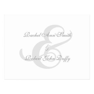 Elegantt marinblått virvlar runt vykort