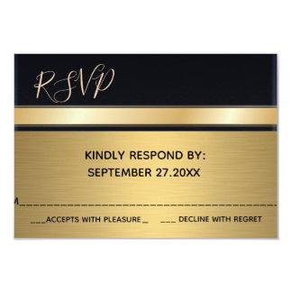 Elegantt modernt chic guld/svart bröllop OSA 8,9 X 12,7 Cm Inbjudningskort