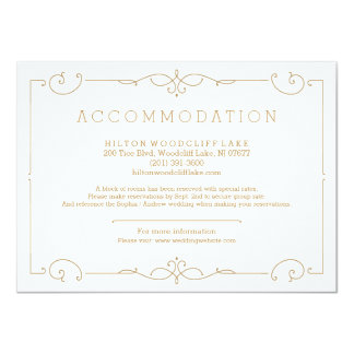 Elegantt modernt klassikerbröllopboende 11,4 x 15,9 cm inbjudningskort