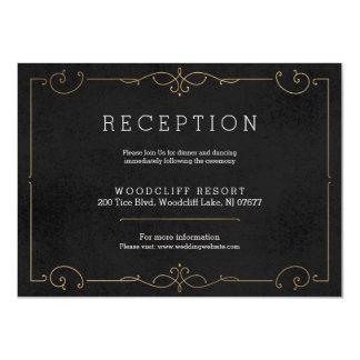 Elegantt modernt kort för 11,4 x 15,9 cm inbjudningskort