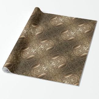 Elegantt mönster för dekorativt metalliskt antikt presentpapper