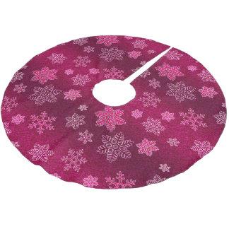 Elegantt mönster för jul julgransmatta borstad polyester