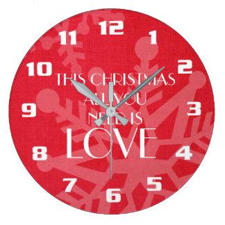 Elegantt och inspirera julmeddelande stor klocka