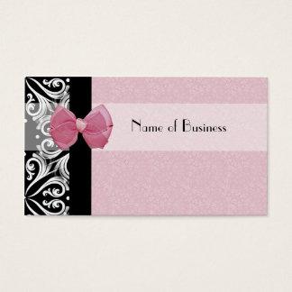 Elegantt Parisian damastast rosa band Visitkort