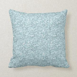 Elegantt pastellfärgat blåttglitter & Sparkles Kudde