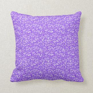 Elegantt purpurfärgat Retro glitter & Sparkles Kudde