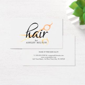 Elegantt rent vitFauxguld Scissors hairstylisten Visitkort