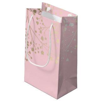 Elegantt rosa bröllop för guld- brudslöja