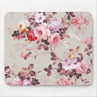Elegantt rosa rött purpurfärgat romönster för vint mus mattor