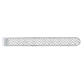 Elegantt silver omkullkastar mönster för slipsnål med silverfinish