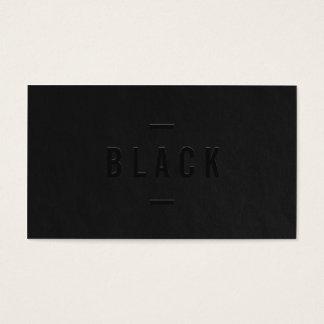 Elegantt svartvitt yrkesmässigt modernt enkelt visitkort