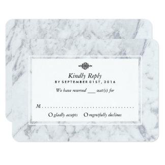 Elegantt vintagemarmorbröllop OSA 8,9 X 12,7 Cm Inbjudningskort