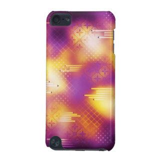 Elegantt violett och gult fodral iPod touch 5G fodral