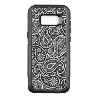 Elegantt vit- & svartvintagePaisley mönster OtterBox Commuter Samsung Galaxy S8+ Skal