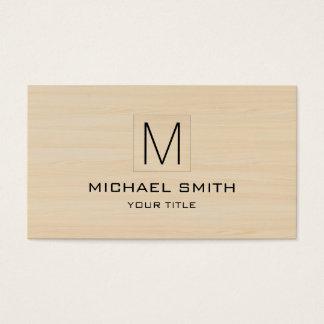 Elegantt Wood korn för yrkesmässig Monogram Visitkort