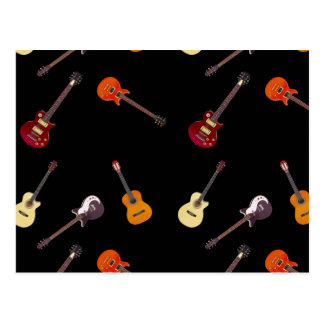 Elektrisk & akustisk gitarrCollage Vykort