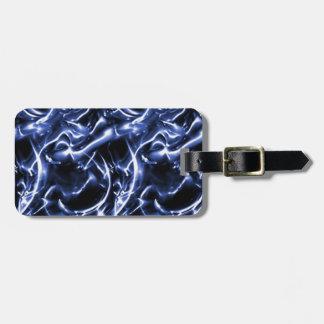 Elektrisk bagagemärkre för beställnings- blått bagagebricka