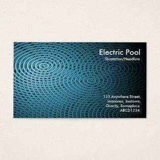 Elektrisk bassäng 010 för blått visitkort