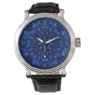 Elektrisk blåttKaleidoscopeklocka Armbandsur