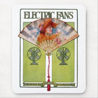 Elektrisk fläktannons för art nouveau musmattor