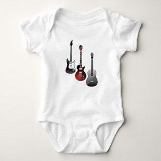 elektrisk gitarr, akustisk gitarr t-shirt