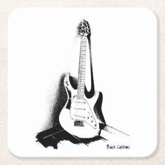 Elektrisk gitarr för svart & för vit - kustfartyg underlägg papper kvadrat