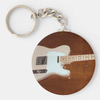 Elektrisk gitarr rund nyckelring