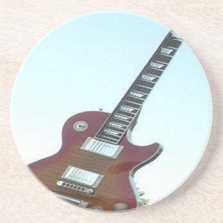 Elektrisk gitarr underlägg sandsten