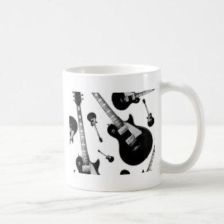 Elektrisk gitarr vit mugg