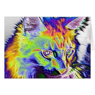 Elektrisk katt hälsningskort