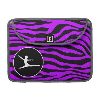 Elektrisk purpurfärgad zebra ränder; Balett Sleeve För MacBook Pro