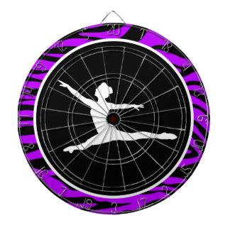 Elektrisk purpurfärgad zebra ränder; Balett Piltavla
