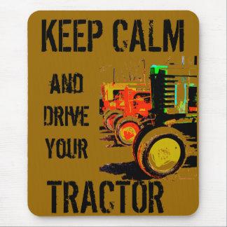 Elektrisk traktor Mousepad för vintage Musmatta