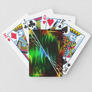 Elektriska blått och grönt vinkar spelkort